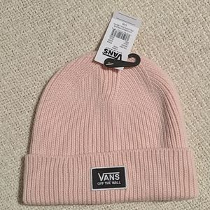 Vans off the wall pink beanie winter hat one size